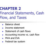 Financial Statements, Taxes, and Cash Flows