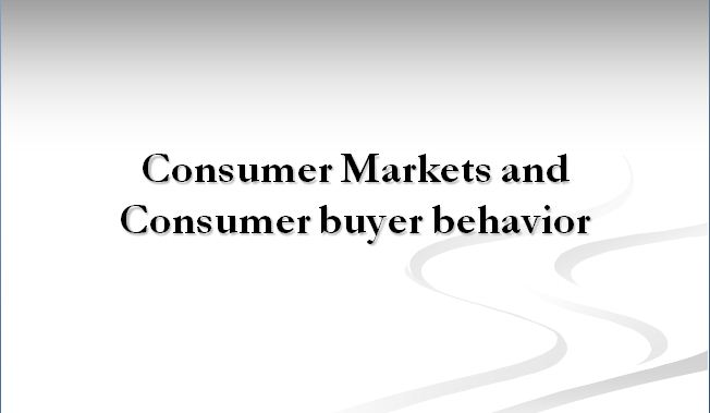 Consumer buying behaviour dissertation