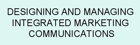 thesis on integrated marketing communication