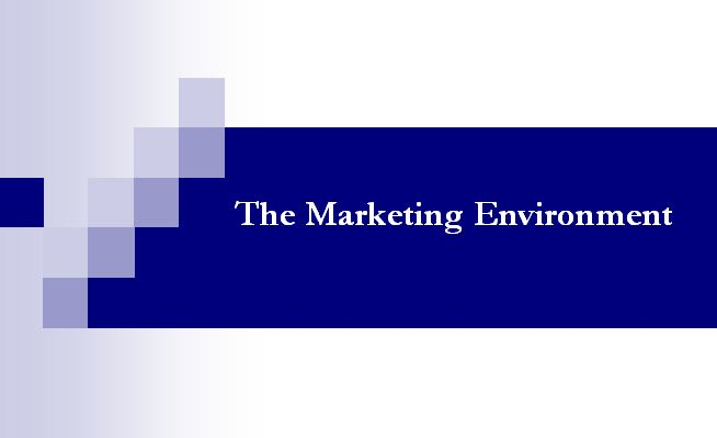 Lecture on The Marketing Environment