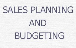 Lecture on Sales Planning and Budget