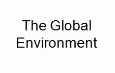 Lecture on The Global Environment