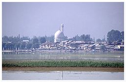 Hazratbal shrine in Srinagar