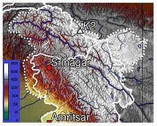 Topographic map of Kasmir