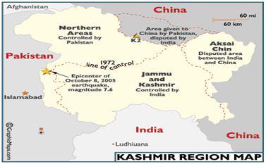 map kasmir