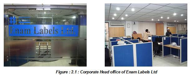 Corporate Head office of Enam Labels Ltd