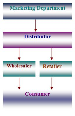 Distribution Channel of DANO milk powder