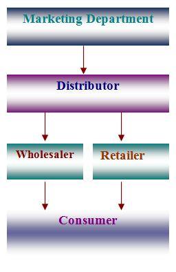 Distribution Channel of DANO milk powder