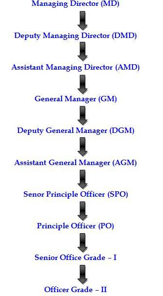Organizational Hierarchy of IFIC Bank Limited