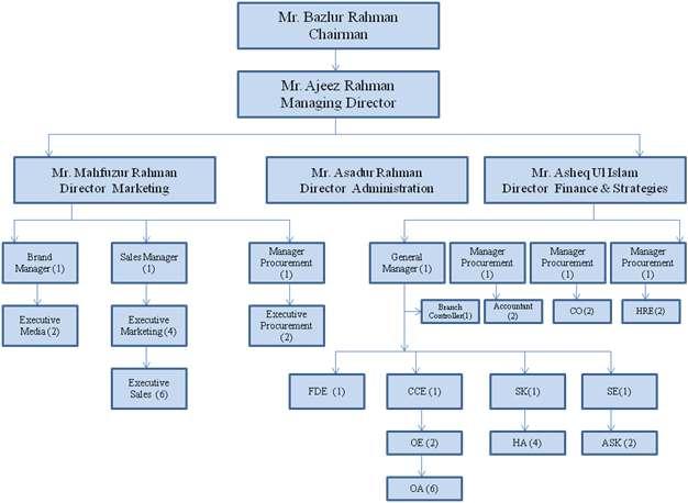 Organogram of Index IT Ltd