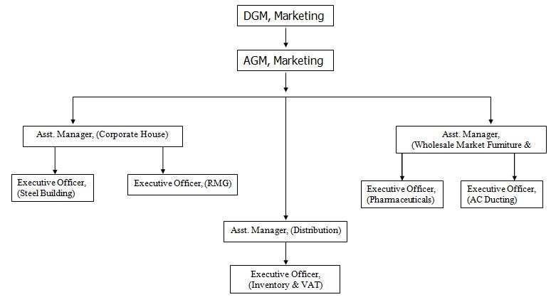 Organogram of JMCL Marketing