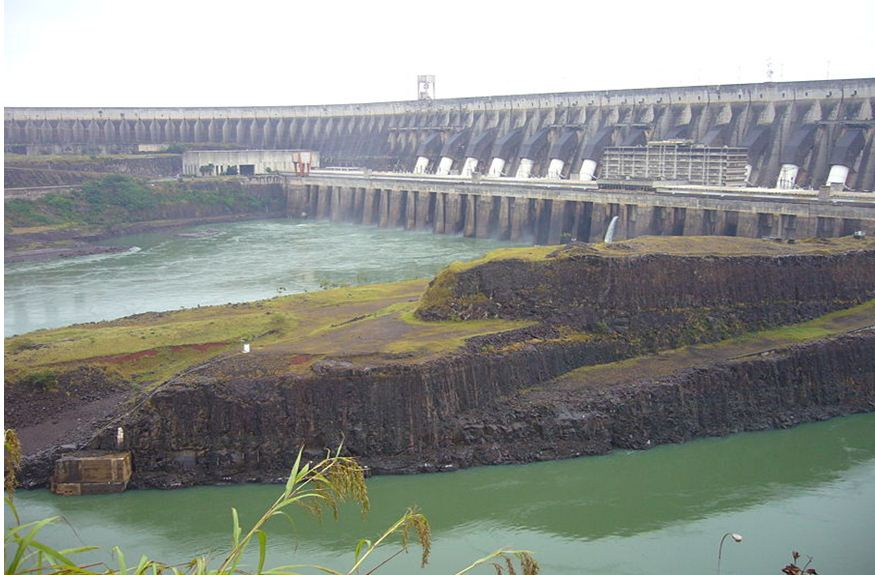 The Itaipu hydroelectric dam on the Paraná River