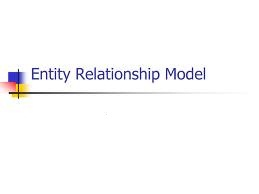 Assignment on ENTITY  RELATIONSHIP  MODEL