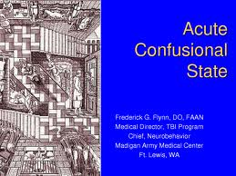 Report on Aetiology of Acute Confusional State