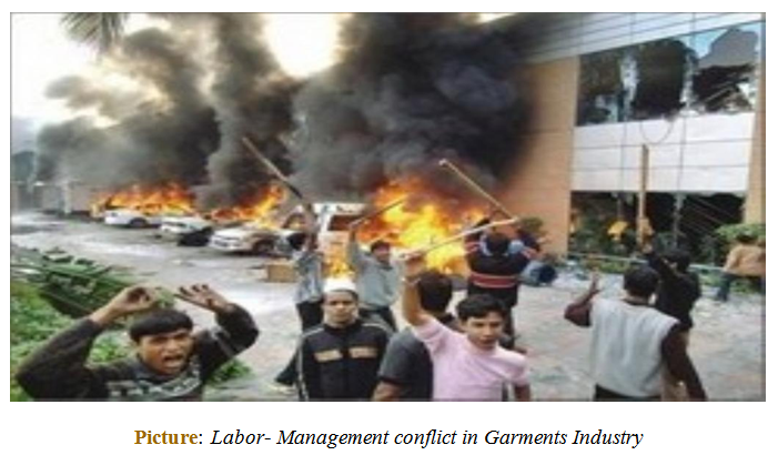 Labor- Management conflict in Garments Industry