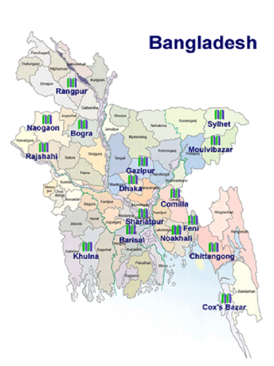 Some Branches of Mercantile Bank in Bangladesh