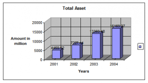 Trend of total assets