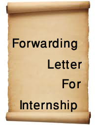 Sample Forwarding Letter for Internship