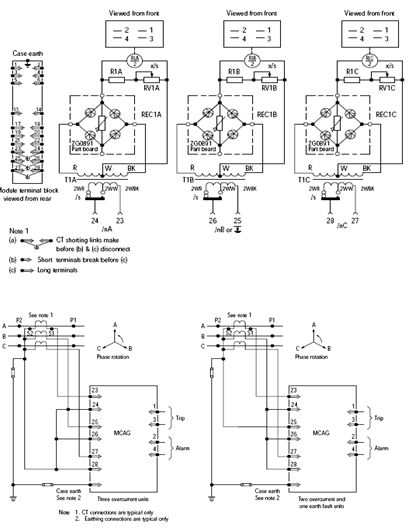Arrangement of a Digital over Current Relay