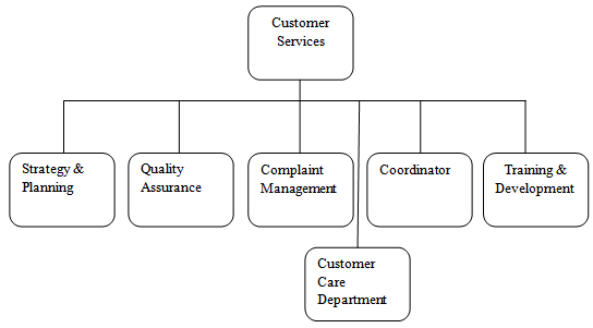 Company Structure of Customer Service