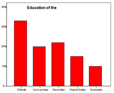 Distribution of the respondents by educational status