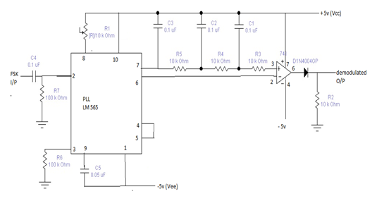 FSK demodulator circuit