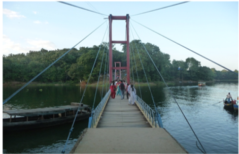 Hanging bridge of Rangamati