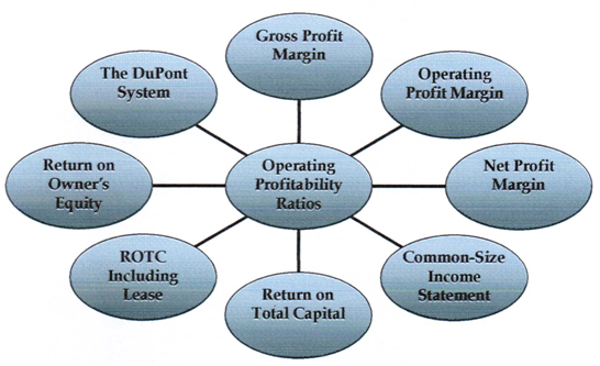 Types of operating profitability ratios