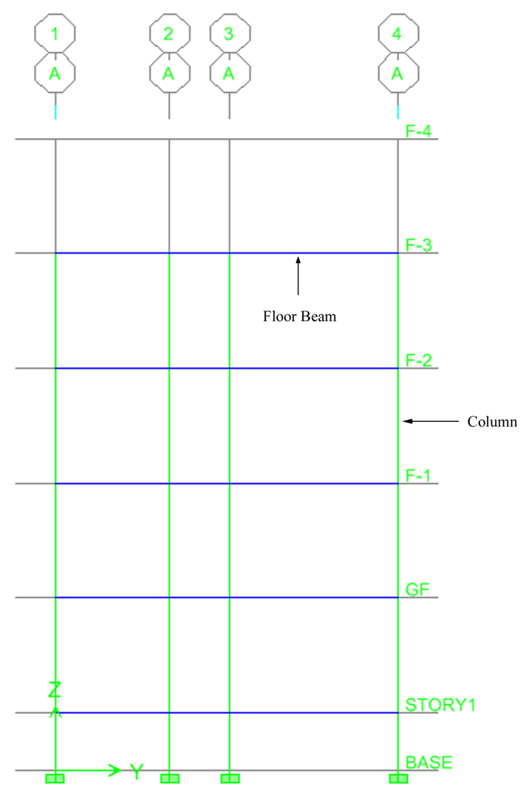 Typical Long Section of Option I Building