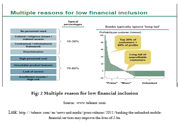 Multiple reason for low financial inclusion