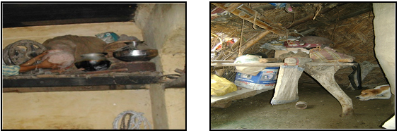 Macha inside the house for storing valuable items during flood