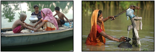 Multiple works of women in Flood