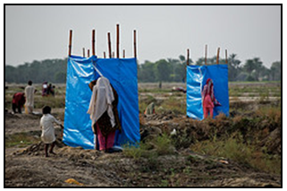 Sanitation problem of women in flood