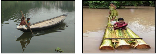 Temporary vehicles for flood
