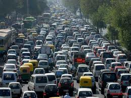 Traffic Jam in Dhaka City