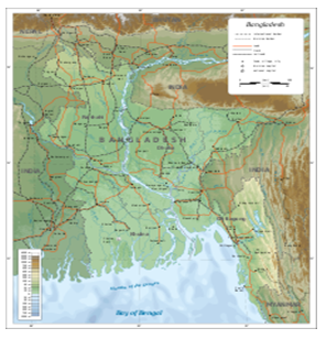 Geographical Location of Bangladesh