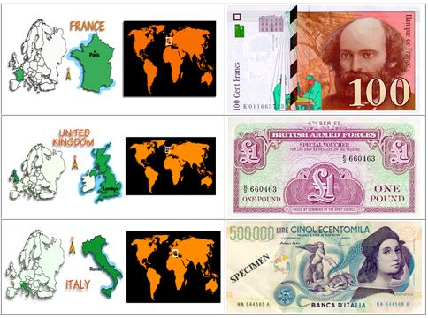 world paper currencies