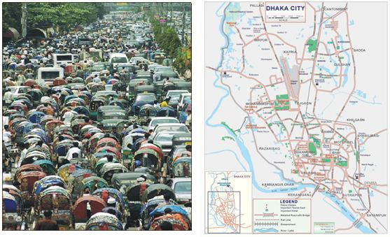 traffic jam in dhaka city 'management can lessen 60pc of dhaka's traffic jam damage'  accidents  occurred in dhaka city due to the transportation mismanagement.