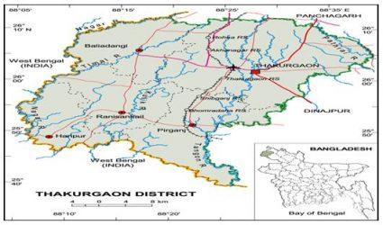 Geographical Location of Barahaat Para Jagannthpur Thakurgaon