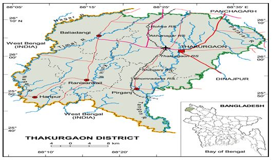 Geographical Location of Barahaat Para Jagannthpur Thakurgaon