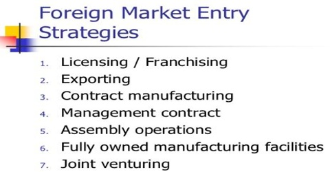 Entry Strategy and Strategic Alliances into Foreign Market