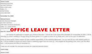 Official Application For Leave