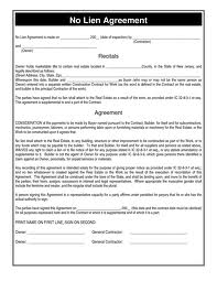 Letter for Official Recognition of Agreement of Lien