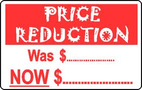 Letter for Declaration of Price Reduction