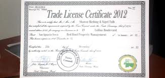 Application for Trade License