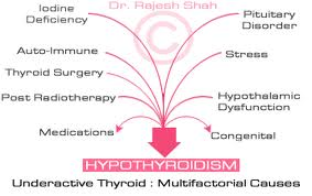 Explain Causes of Hypothyroidism