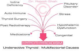 Explain Causes of Hypothyroidism