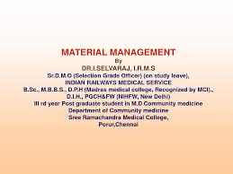 Assignment on Material Management in Vocational Education