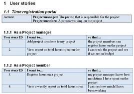User Story Writing