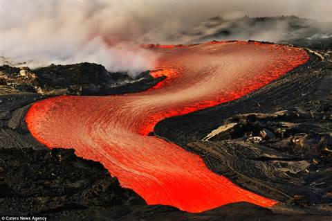 Discuss and Differentiate on Volcanoes and Lavas